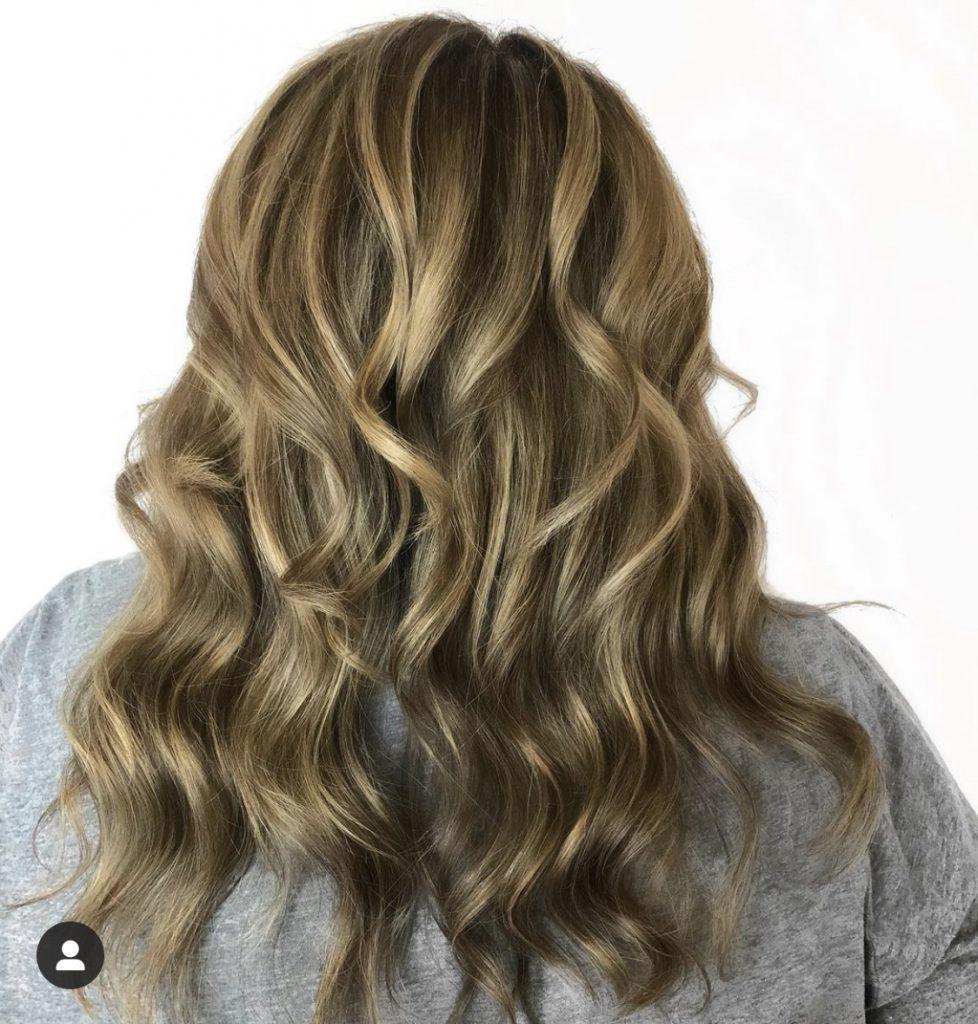 Highlights on medium brown hair